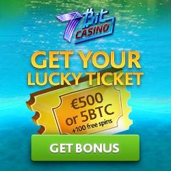 7bit casino 500 EUR welcome bonus or 5 BTC