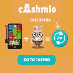 20 Free Spins & 150 Extra Spins on Starburst Slot at Cashmio Casino