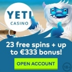 23 Free Spins No Deposit at Yeti Casino