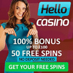 50 Free Spins No Deposit at Hello Casino