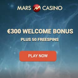 Mars casino 300 EUR welcome bonus & 50 Free Spins
