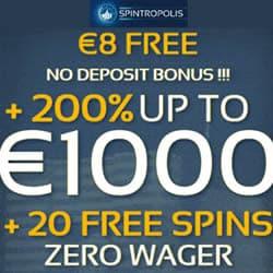 Spintropolis Casino €8 Free No Deposit
